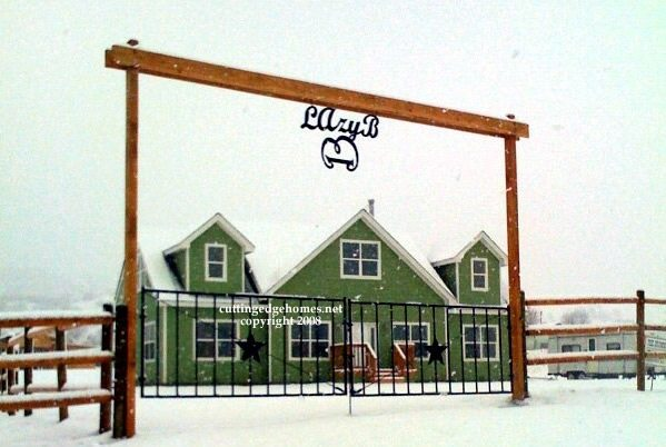 Finished Home in Snow