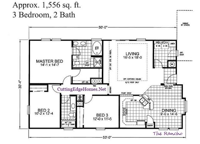 ft. 2ba – sq. The 3br / 1556 – Rancho