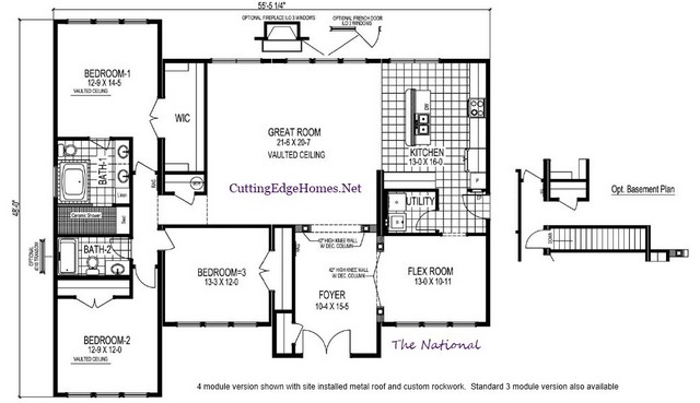 sq. – 2132 – / The 3br National 2ba ft.