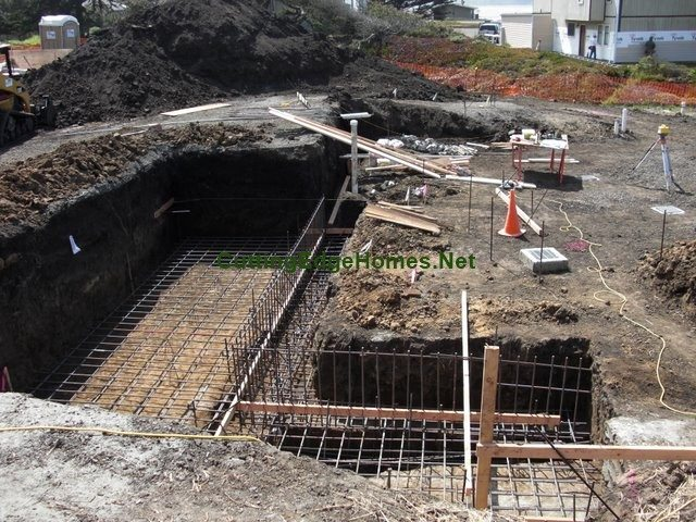 A big hole for a wall