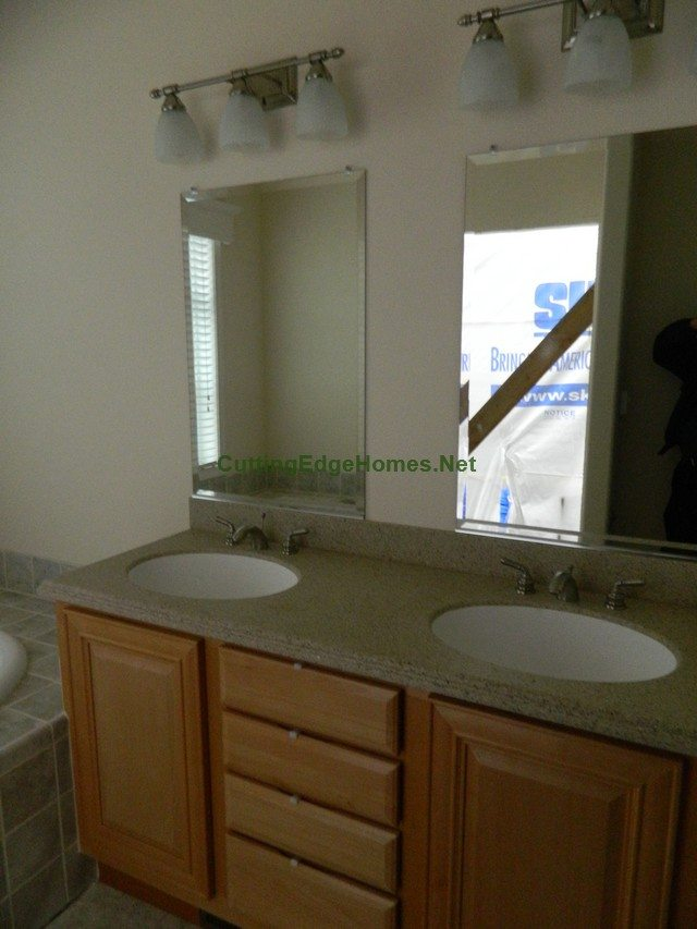Highland Cape with Unfinished Attic: Master Bath Double Sinks