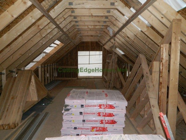 Highland Cape with Unfinished Attic: Interior 3 Weeks After Delivery - Unfinished Attic Facing Front
