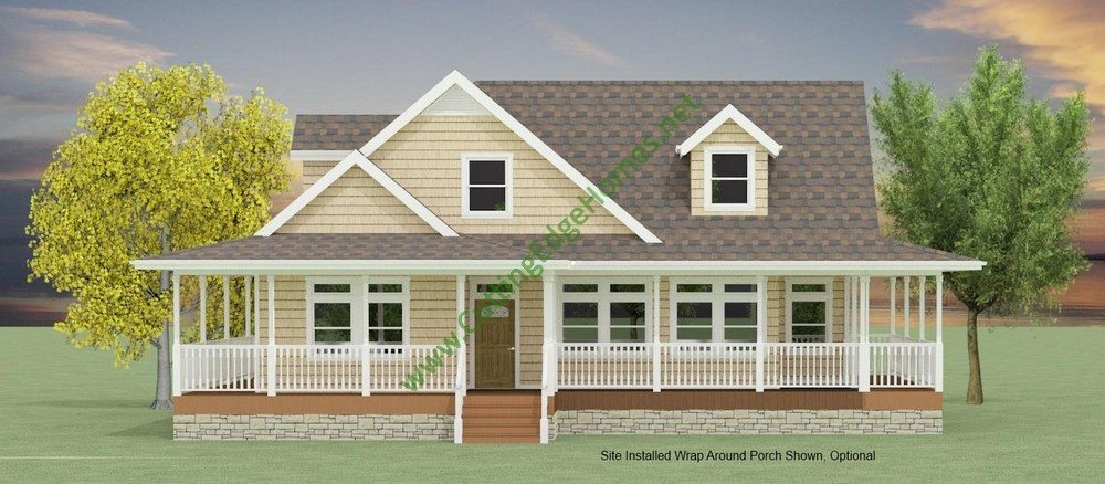 Birmingham Cape With Wrap Around Porch, Houses With Porches All The Way Around